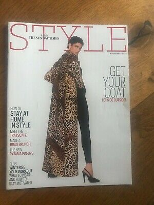 Sunday Times Style Mag, Nov 2020: Stay At Home Fashion ROITFELD Pyjama Pin Ups + • 1.75£