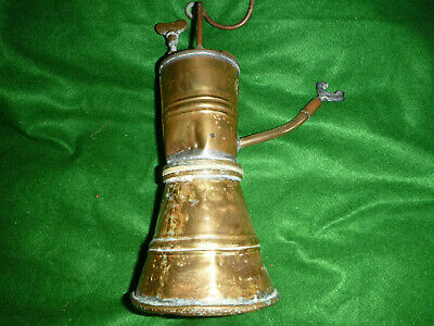 Very Rare Antique Brass Coal Salt Miners Lamp. Made By Coal Salt & Tanning Co • 60£