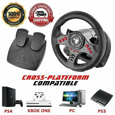£59.99 • Buy Xbox One Steering Wheel And Pedal Set Gaming Racing Driving Simulator PS4 PS3 UK