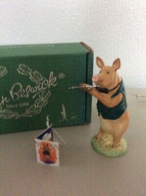 Beswick Pigs - Pig Band - David The Flute Player - As Bew Boxed • 14£