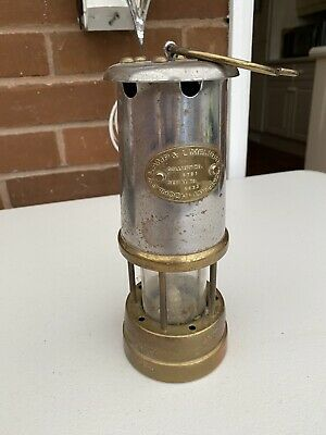 Vintage Brass And Steel Miners Lamp • 20£