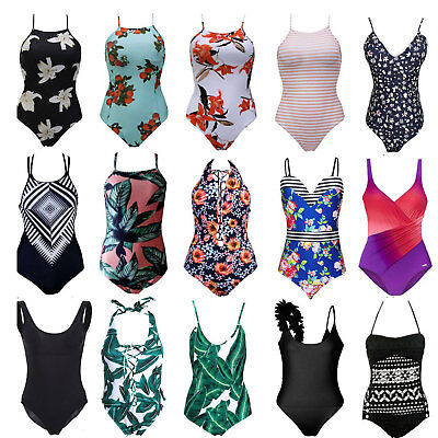 UK Swimming Costume Womens Monokini One Piece Swimsuit Swimwear Push Up Bikini • 8.79£
