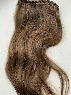 Brown Russian (Ukraine) Hair Extensions 16 Inch Long **never Worn** • 90£