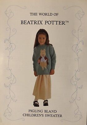 Alan Dart's Beatrix Potter 'pigling Bland' Children's Sweater Knitting Pattern • 2.95£