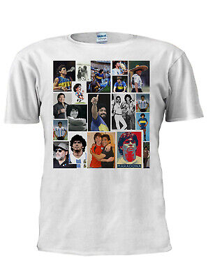 Maradona T-Shirt Diego Collage Football Sport Legend Argentina Tee World Cup N10 • 8.99£