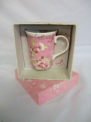 China Mug 'Take Time For The Little Things', Lucy Cromwell Hallmark, NEW • 20£