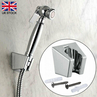 Chrome Adjustable Wall Mounted Bathroom Shower Head Holder Bracket ABS Mount UK • 4.65£
