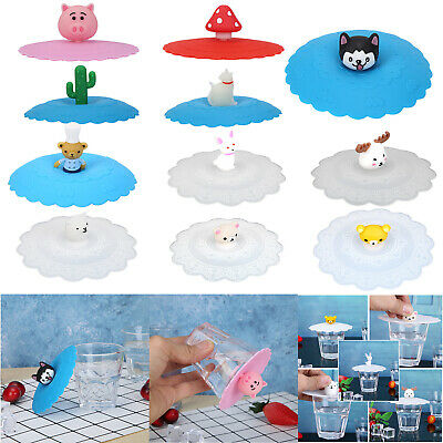 £4.01 • Buy UK Silicone Cup Lid Glass Drink Cup Cover Dustproof Coffee Mug Suction Lid Cover