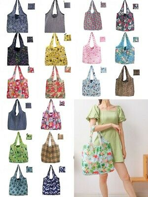 X Large Reusable Foldable Ladies Shopping Bag Eco Tote Handbag Fold Away Bag UK  • 2.89£