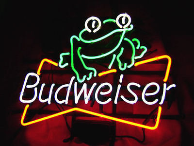 $ CDN179.15 • Buy New Budweiser Frog Pub Beer Bar  Man Cave Neon Light Sign 20 X16