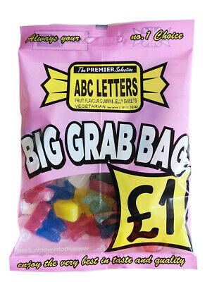 £9.99 • Buy 10 X 150g ABC Gummy Letter Sweets Grab Bags HALAL