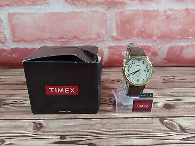 Timex TW2P75800, Men's Easy Reader Brown Leather Watch, Indiglo, Date, 38MM Case • 18.41£