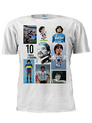 Maradona T-Shirt Diego Collage Football Tee Sport Legend Argentina World Cup N12 • 9.99£