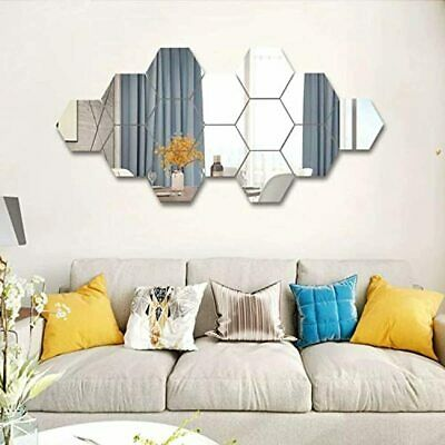 SUNIY 15 Pieces Removable Acrylic Mirror Setting Wall Sticker Decal For Home Liv • 21.65£