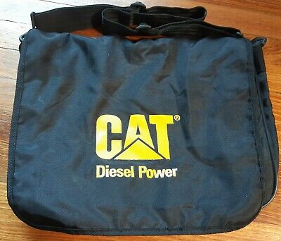 Caterpillar CAT Diesel Power Black Record Bag Satchel  • 8.99£