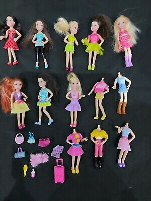Polly Pocket Pop N Swap Dolls, Clothes, Bags Etc VGUC Ideal For Xmas  • 5.99£