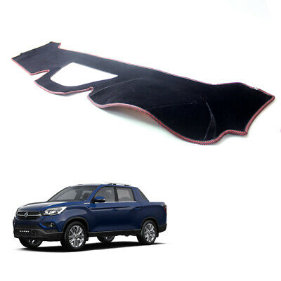 AU59.95 • Buy Velvet Non-Slip Dash Cover BL W/ Red Stitch For 2019 ~ 2021 Ssangyong Musso XLV