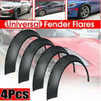 $52.26 • Buy 4*3.0 /80mm Universal Flexible Flares Car Fender Extra Wide Body Wheel Arches