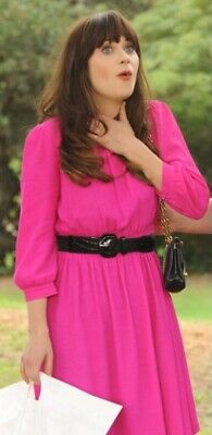 AU46 • Buy Kate Spade Zari Dress In Pink Size 0 As Seen On Zooey Deschanel In New Girl