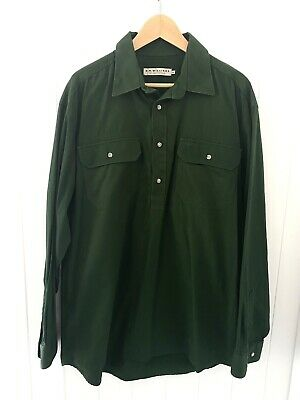 AU25 • Buy Rm Williams Angus Shirt In Green Size Xxl Euc
