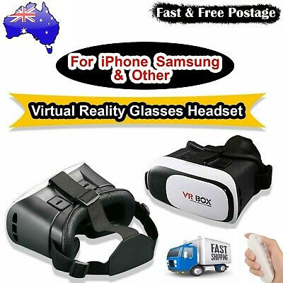 AU29.50 • Buy VR BOX 3DVR Virtual Reality Headset For IPhone 12 11 Pro Max + Xs 8 Samsung S20+