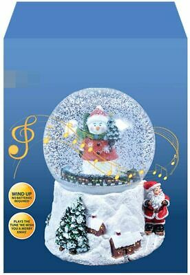 14cm Musical Snow Globe Snowman Santa Christmas Decoration Ornament Gift • 11.95£