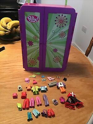 POLLY POCKET CRUSIN STORAGE WARBROBE + Extra Clothes • 2.99£
