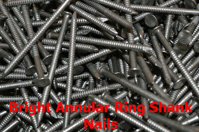 500g Packs Bright Annular Ring Shank Nails Pick Your Size - Trade-Fixings Direct • 3.25£