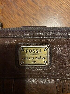 Fossil Vintage Ladies Brown Soft Leather Purse • 9.99£