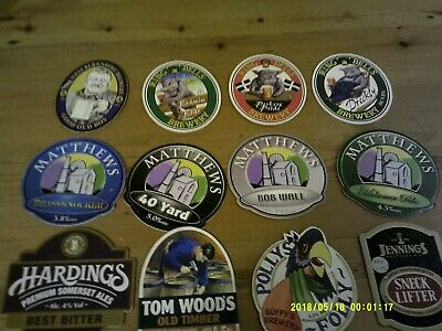 12 Interesting Beer Pump Clips Including Ring O Bells And Matthews • 2£