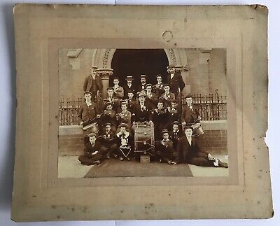 Antique Photograph Drum And Flute Band • 8£