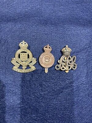 British Army Cap Badges X 3 - Supporting Corps WW2 • 5.99£
