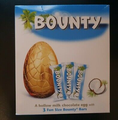 Bounty Milk Chocolate Easter Egg With 3 Fun Size Bars 263g BEST BEFORE 07/06/20 • 1£