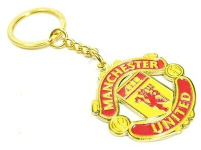 Manchester United FC Official Licensed Product Club Crest Keyring Free P & P • 4.50£