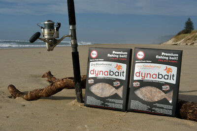 AU75 • Buy Dynabait Blood Worms + Sand Worms  2x 1Kg   Approx.60 Small Satchels!