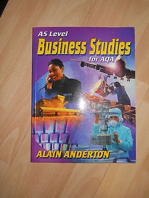 As Business Studies For AQA Alain Anderton • 1.99£