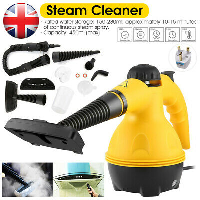 Steam Cleaner Hand Held Steamer Kitchen Bathroom Tile Universal Cleaning Yellow • 21.99£