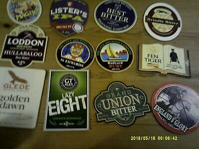 12 Assorted Interesting Beer Pump Clips Including Leek All Listed • 2£