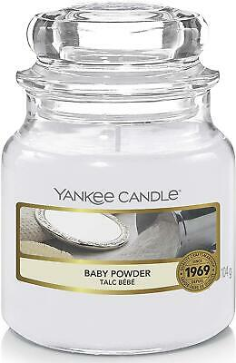 Yankee Candle Scented Candle | Baby Powder Small Jar Candle | Burn Time • 11.23£