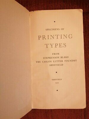 Typography Book Printing Types 1950s Type Catalogue  • 4£