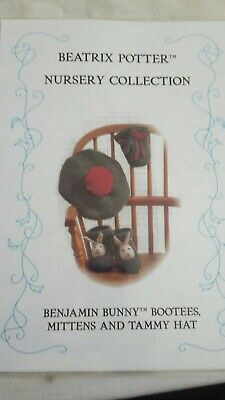 Beatrix Potter ~ Benjamin Bunny Nursery Collection  Knitting Pattern ~ Laminated • 20£
