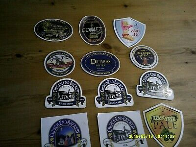 12 Interesting Beer Pump Clips Including Concetina Church End And Castle Rock • 2£
