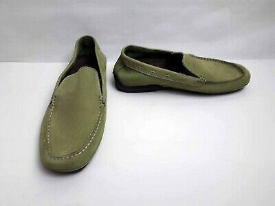 Rockport Suede Washable Loafers Moccasins Slip-Ons Wide Fit  - In Green - 7.5 • 16.99£