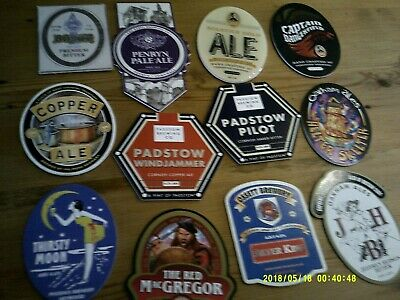 12 Interesting Beer Pump Clips Including Pershore And Padstow And Poole • 2£