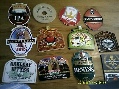 12 Interesting Beer Pump Clips Including Millstone Stone Cp • 2£