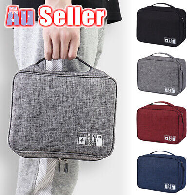 AU13.55 • Buy Cable Organizer Bag Travel Case Storage Charger Electronic Accessories USB
