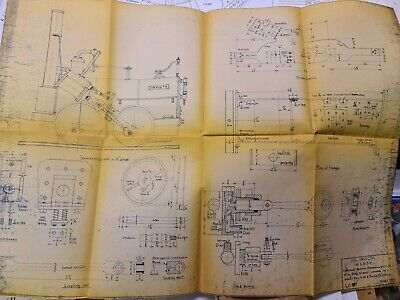 Drawings For 3 1/2  Gauge 0-6-0  Invicta  Designed By LBSC. Percival Marshall. • 25£