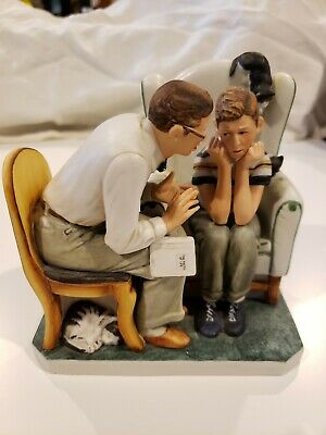 $ CDN32.37 • Buy Norman Rockwell Figurine  Facts Of Life  Sat Eve Post Cover Gorham Ltd. Ed. 1983