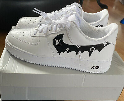 Nike Air Force 1 Paint Splat Custom Trainers Size 9 New Boxed Authentic • 50£