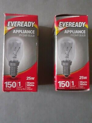£3.45 • Buy 2 X 25w Lava Lamp Replacement Bulbs SES Small Edison Screw Eveready